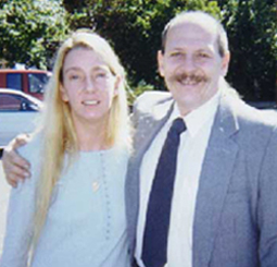 Scott, now a family man, with his wife  Sue